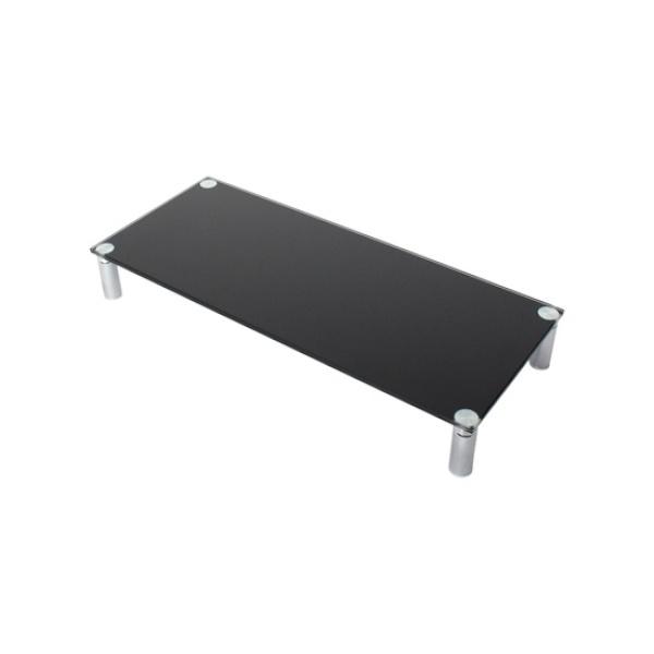 디바이스마트,컴퓨터/모바일/가전 > 모니터/모니터주변기기 > 보안기/받침대 > 모니터받침대,,모니터받침대, NETmate NM-GCD02 B [메탈/중] [유리색상:블랙],크기:560X240mm / 높이:80mm / 재질:강화유리(8mm) / 1단 선반 / DIY(조립형)