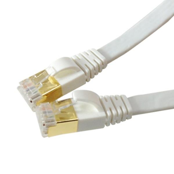 랜스타 CAT.7 STP 플랫 랜케이블 화이트 1M [화이트/LS-F7-SFTP-1M]