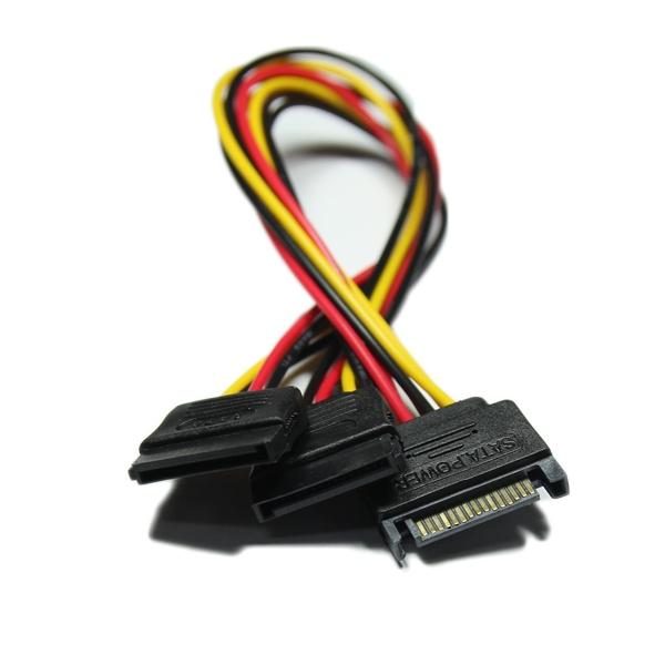 마하링크 SATA to SATA 전원 Y형 케이블 0.3M [ML-SSYP-030]