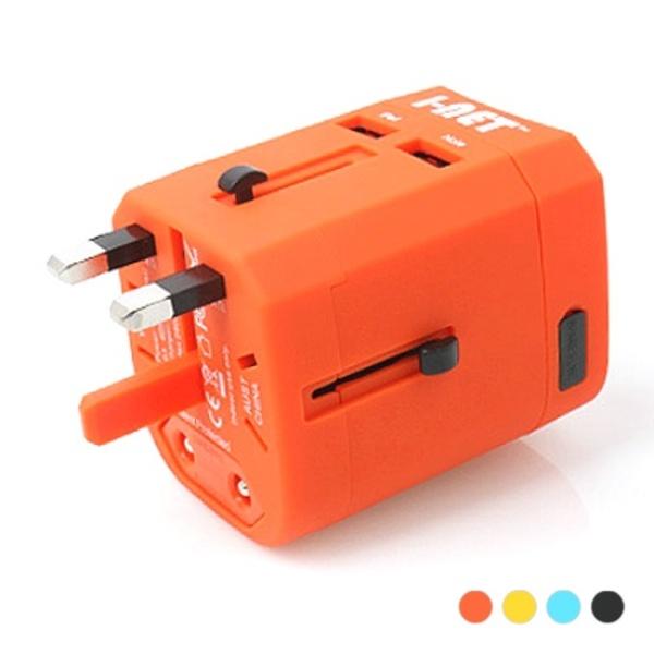 I-NET JY-163 해외 여행용 멀티 아답터 (2500mA/USB 2포트) [색상선택]화이트