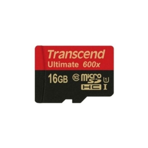 MicroSDHC, Ultimate, Class10, UHS-I (U1), 600배속 MicroSDHC 16GB [어댑터포함] [TS16GUSDHC10U1]||