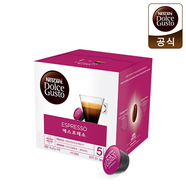 네슬레 네스카페 커피캡슐 [제품선택] 에스프레소 1박스 16EA