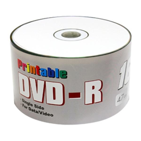 DVD-R, 와이드프린터블, 16배속, 4.7GB [벌크/50매]
