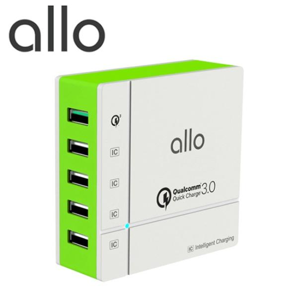 USB 5포트 고속 멀티충전기 (퀵차지3.0/전원케이블 포함) [UC401QC]