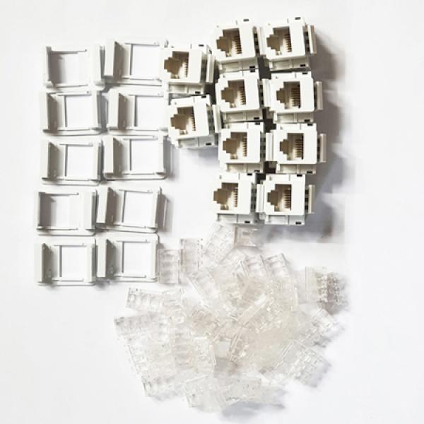 SAFE 키스톤잭, CAT.5E [화이트] [SAFE-B5-MODULE] *시스템박스용 / 가이드포함*
