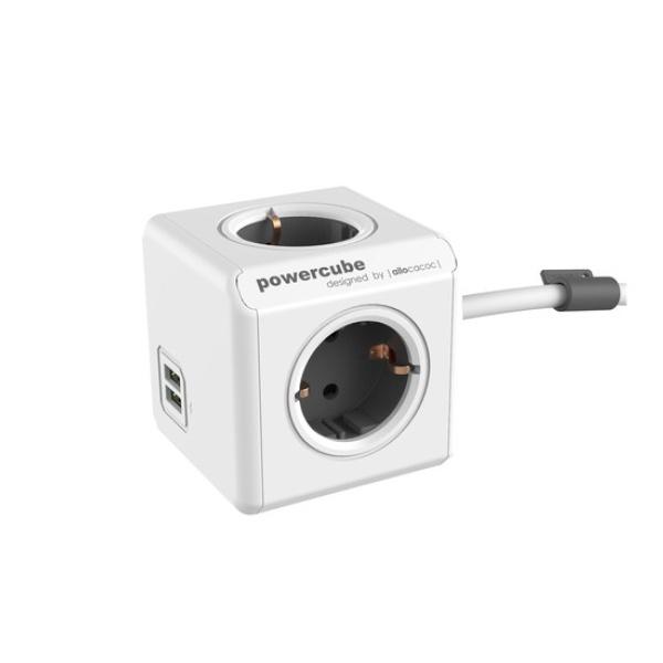 파워큐브 익스텐디드 멀티탭 [4구/16A/1.5M] [USB : 5V/2.1A] [색상선택]