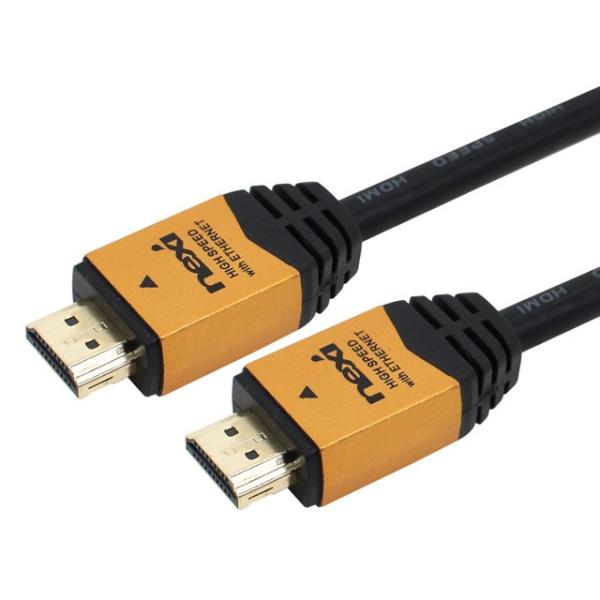 넥시 HDMI 골드메탈 락킹케이블 [Ver2.0] 1M [NX-HD20010-GOLD] [NX457]