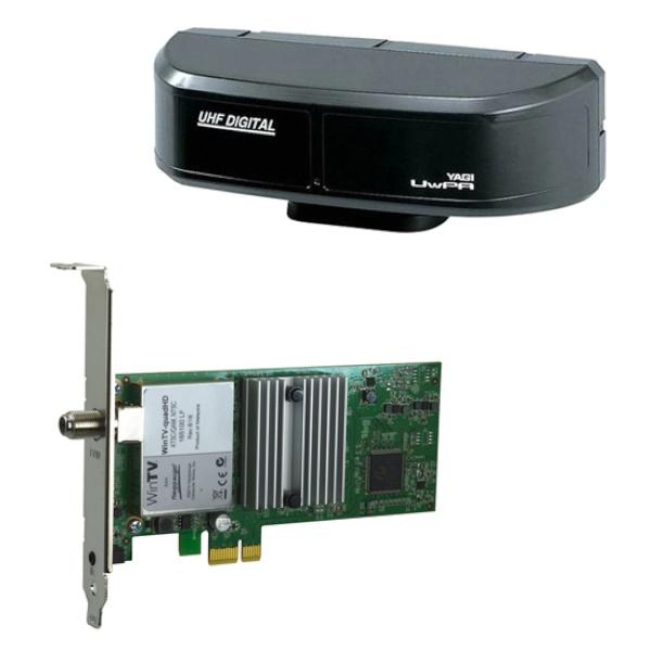 WinTV QuadHD + DA-UwPA 실내용 안테나