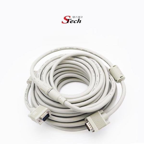 STech RGB(VGA) 분리형(배관용) 케이블 10M