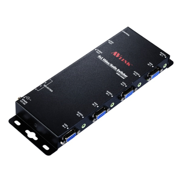 NETmate VRM-14AW [모니터 선택기/1:4/VGA/오디오 지원/벽면장착형]
