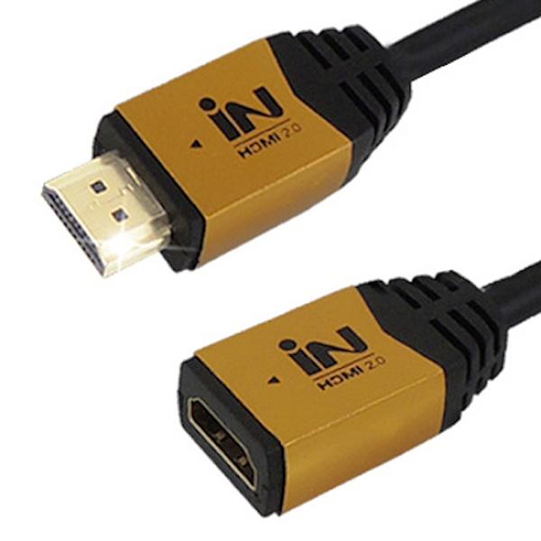 인네트워크 HDMI 골드메탈 연장케이블 [Ver2.0] 1M [IN-HDMI2GMF01]