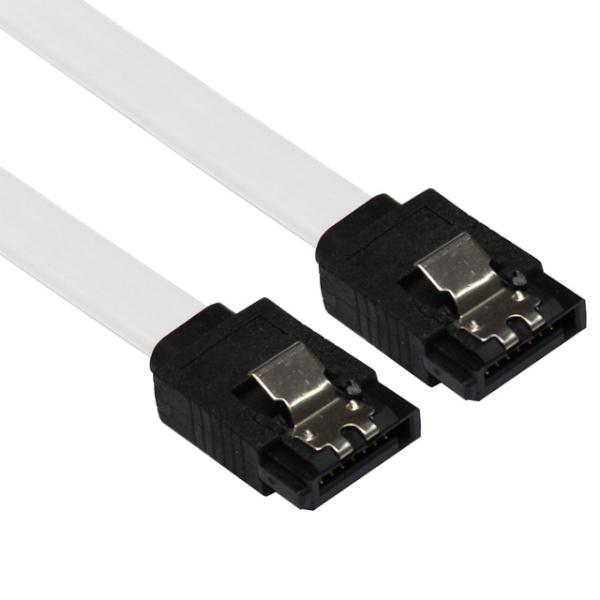 넥시 SATA3 Lock 케이블 FLAT 0.3M [NX44-1] [화이트]