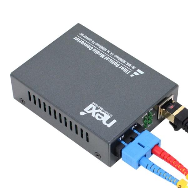 넥시 NX-FC2000-SCS 광컨버터 [1000Mbps/SC/싱글] [NX529]