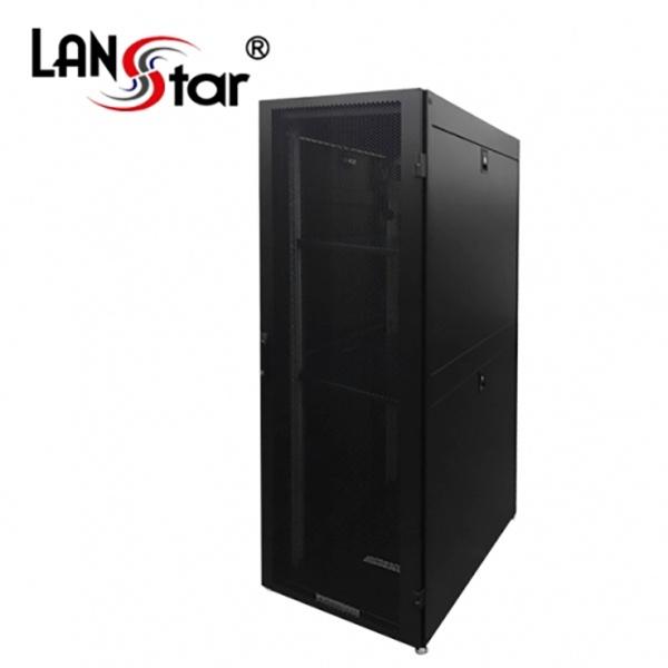 랜스타 타공식 통풍형 서버랙, 블랙 |블랙 [LS-1800HSQ] [38U] [조립비포함]