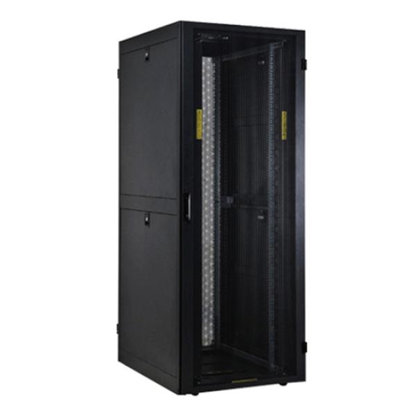 랜스타 타공식 통풍형 서버랙, 블랙|블랙 [LS-1600HSQ] [33U] [조립비포함]