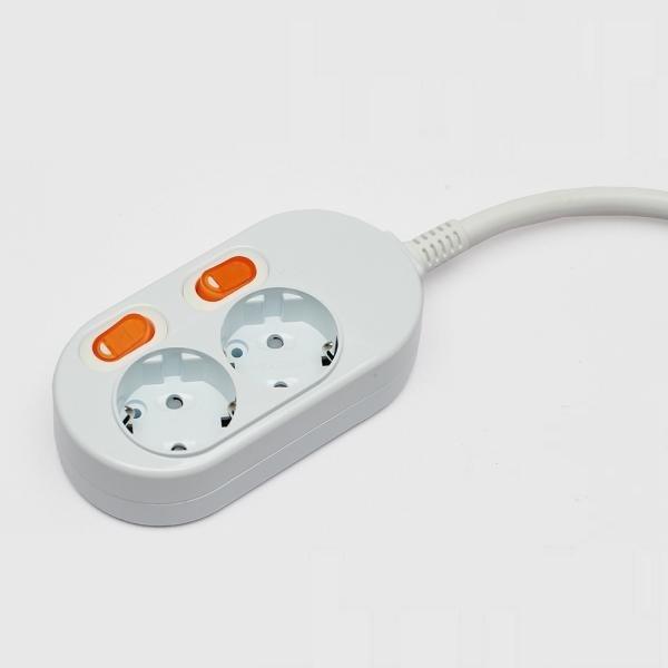 멀티탭 / 2구 / 3M / 난연성재질 / KC인증 / 과부하차단