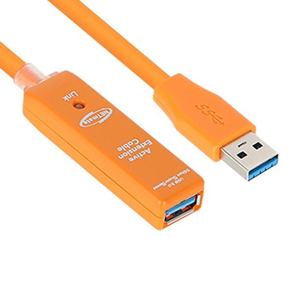 [USB 연장 리피터 케이블] USB 3.1 Gen1(3.0) / 캐스케이드 기능으로 거리 연장가능 / 유전원 모델 ->아답터 포함