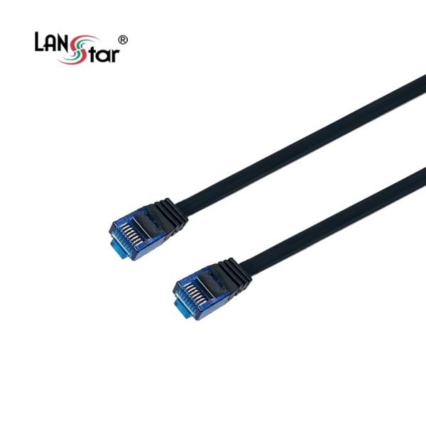 랜스타 CAT.7 UTP 플랫 랜케이블 블랙 5M [블랙/LS-F7-UTPD-5M]