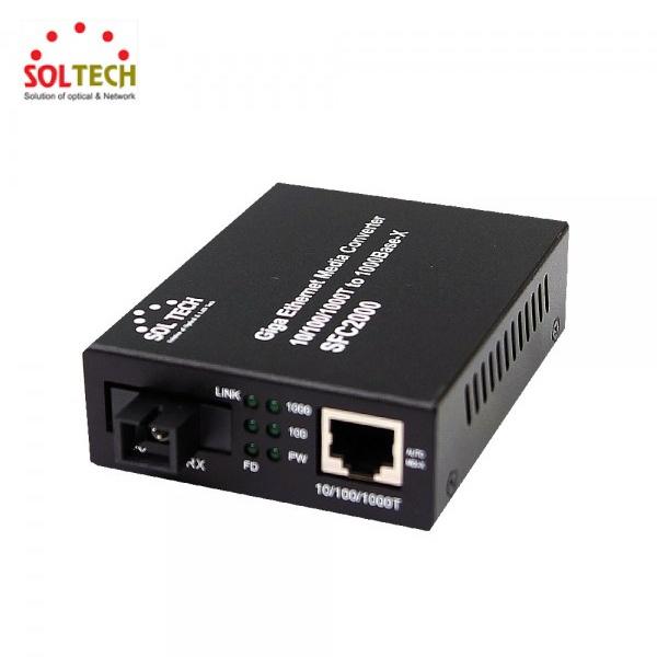 솔텍 SFC2000-TWL20/B 광컨버터 [1000Mbps/SC/싱글] [B타입]