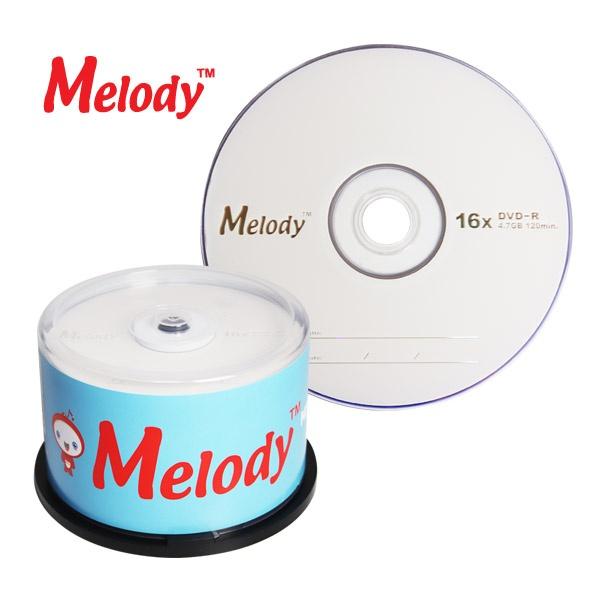 DVD-R, 16배속, 4.7GB [멜로디정품] [케익통/50매]