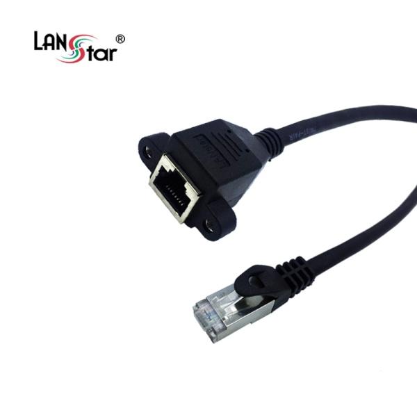 랜스타 CAT.7 S-FTP 판넬형 연장 케이블 0.5M [LS-7SD-BK0.5M]