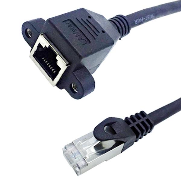 랜스타 CAT.7 S-FTP 판넬형 연장 케이블 0.2M [LS-7SD-BK0.2M]
