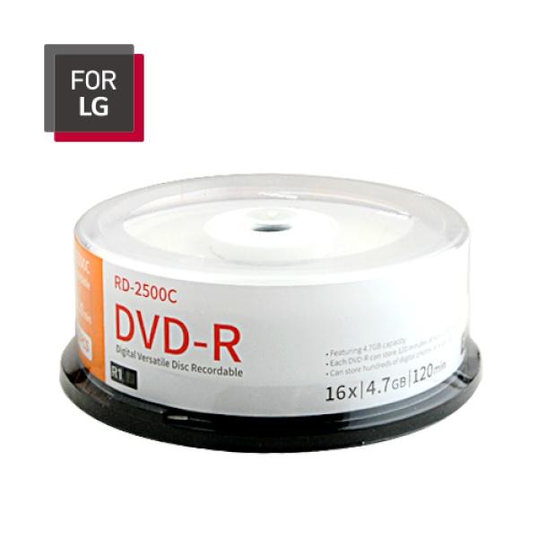 DVD-R, 16배속, 4.7GB [케익통/25매]