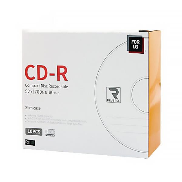 CD-R, 52배속, 700MB [경질슬림/1P-10매]