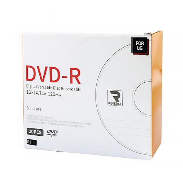DVD-R, 16배속, 4.7GB [경질슬림/1P-10매]