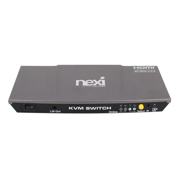 넥시 NX-7202KVM-4K [HDMI KVM스위치/2:1/USB/케이블별도] [NX616]
