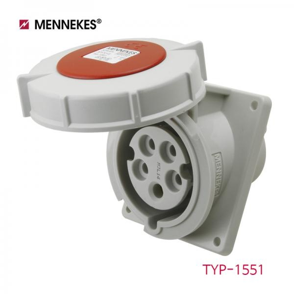 IP67 400V 32A 3P N E 산업용 판넬 소켓 [TYP1551]
