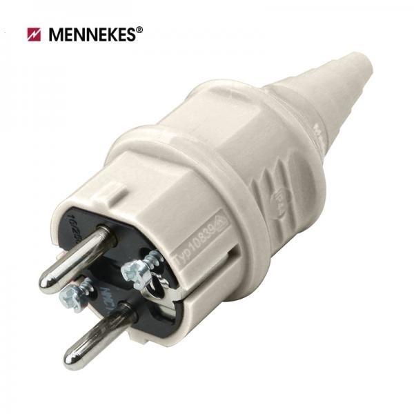 IP44 230V 16A 2P E 산업용 슈코플러그 [화이트/TYP10749]