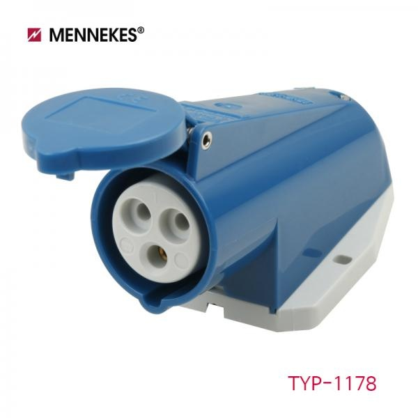 IP44 230V 16A 2P E 노출형 소켓 [TYP1178]