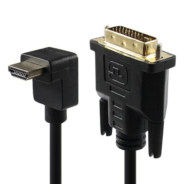 HDtop HDMI to DVI 꺽임 케이블 [하향 90도] 3M [HT-T02]