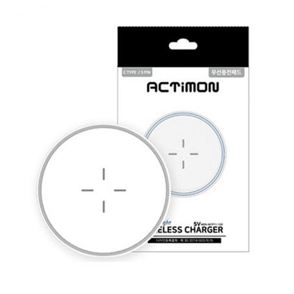 엑티몬 LED 무드등 무선 충전 패드 5V [MON-WCP11-100]