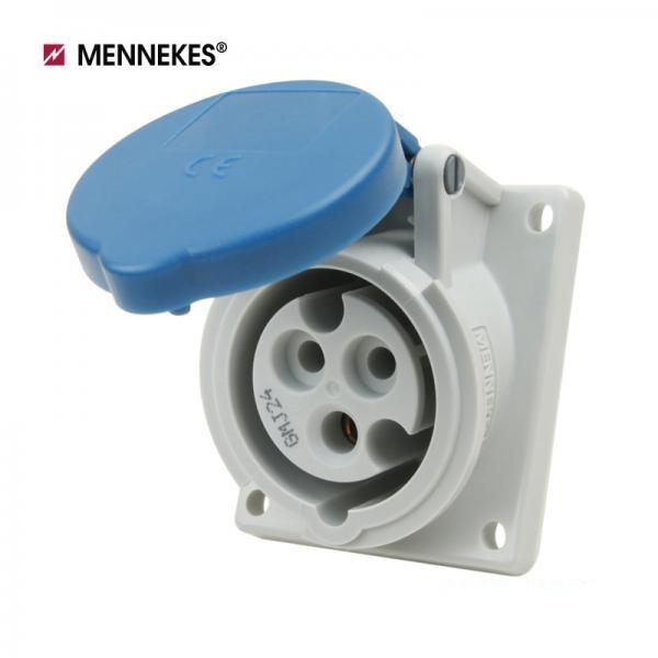 IP44 230V 16A 2P E 판넬 취부형 소켓 [TYP1463]