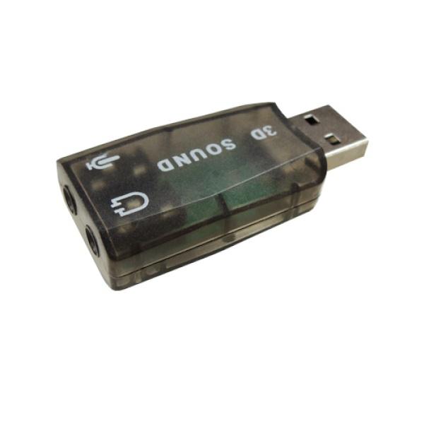 USB Virtual 5.1 채널 사운드 카드 젠더형 색상 랜덤발송 [IN-U51GB]