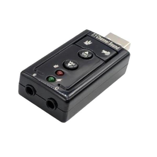 USB Virtual 7.1 채널 사운드 카드 젠더형 블랙 [IN-U71GB]