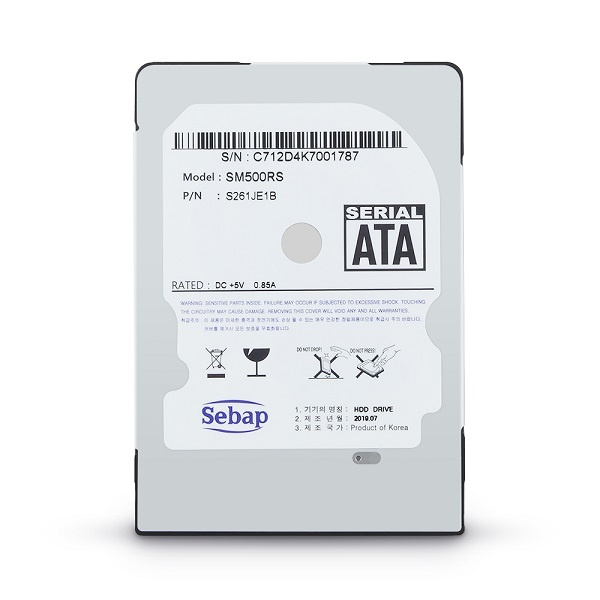 Brillante HDD 500GB SM500RS (2.5HDD/ SATA3/ 5400rpm/ 128MB/ PMR/ 9mm/ 리퍼비시)