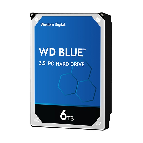 BLUE HDD 6TB WD60EZAZ (3.5HDD/ SATA3/ 5400rpm/ 256MB/ SMR)