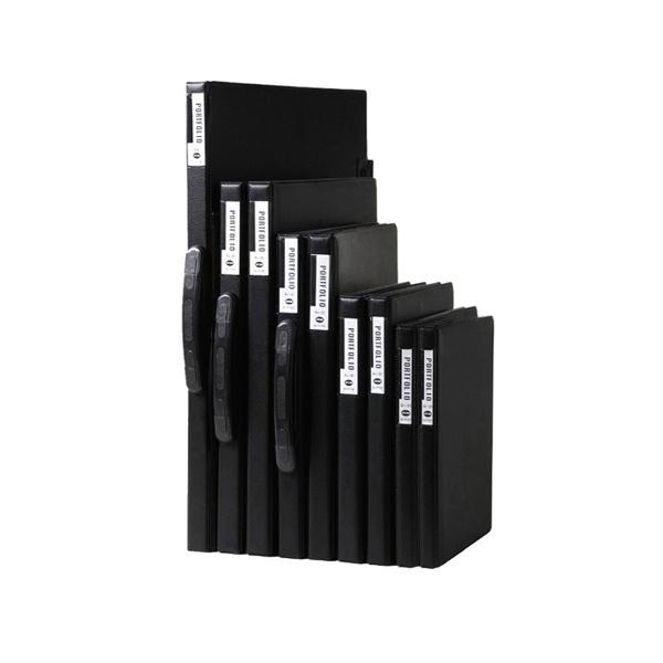 포트폴리오 B4 20매 블랙 손잡이형