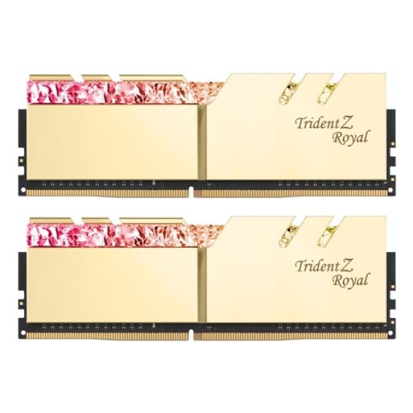 DDR4 16G PC4-35200 CL18 TRIDENT Z ROYAL 골드 (8Gx2)