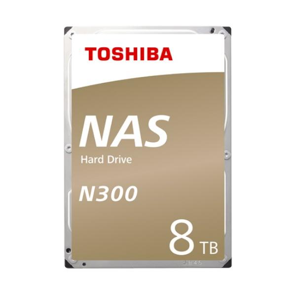 TOSHIBA N300 HDD 8TB HDWG180 (3.5HDD/ SATA3/ 7200rpm/ 256MB/ PMR)