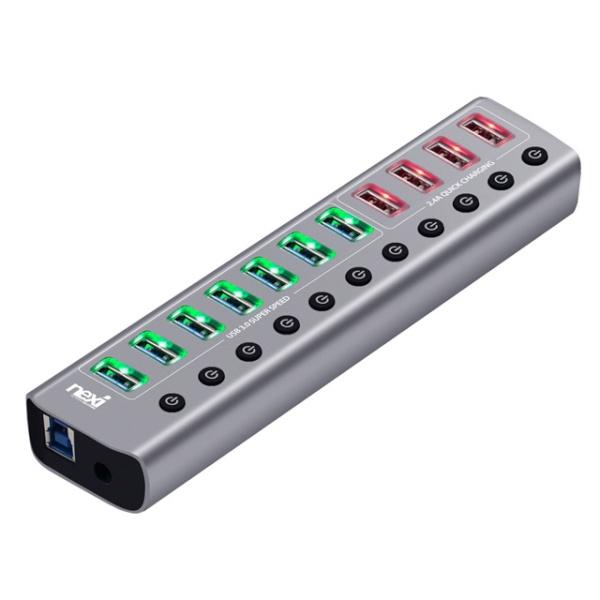 넥시 NX-U1011P (USB3.0허브/11포트/유전원) [메탈] [NX811]