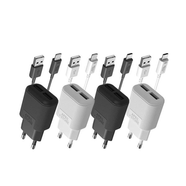 가정용 스마트폰 USB 2포트 충전기 [5핀/C타입선택]