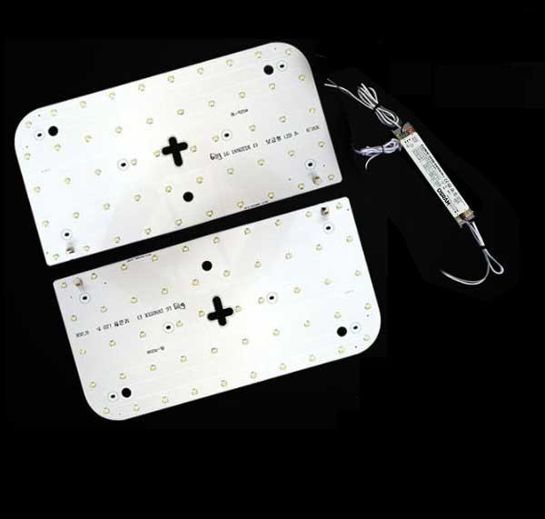 LED모듈 방등 오스람KS안정기+자석포함 LG칩 기판 [50W]