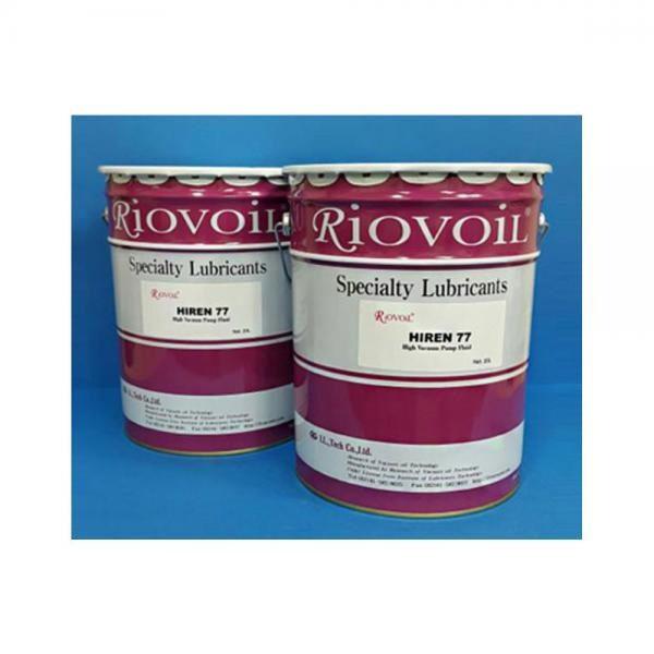 광유계 진공펌프오일 HIREN-77(4리터) Riovoil