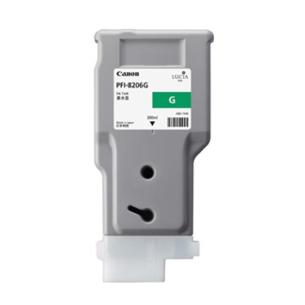 정품플로터잉크 PFI-8206G Green (IPF-6410/300ml)