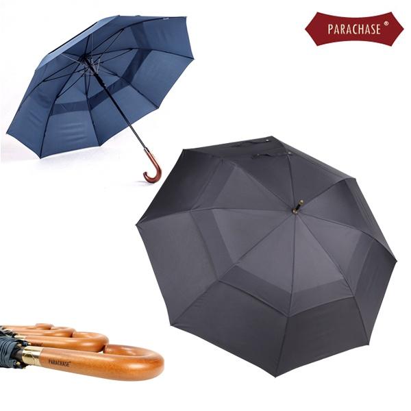 파라체이스 프리미엄 곡자 우드그립 이중 자동 장우산 #1111