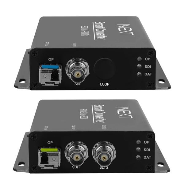 이지넷 SDI 광 리피터 송수신기 세트, NEXT-1025SFC [최대20Km/싱글모드]